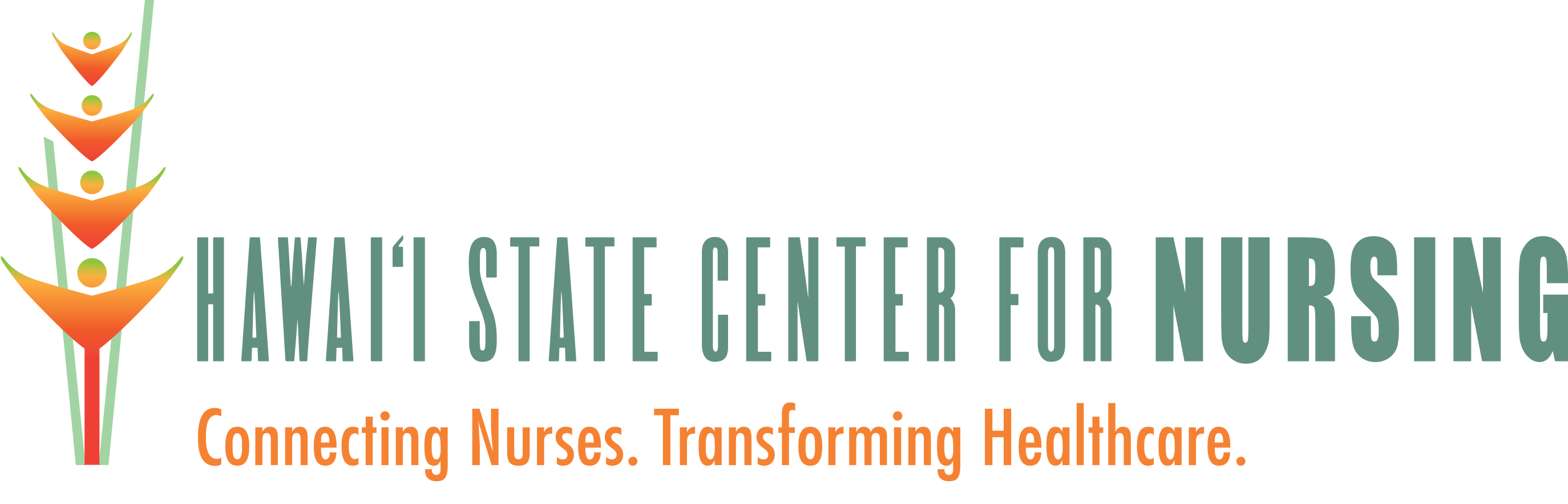 Hawaii State Center for Nursing Logo. Connecting Nurses. Transforming Healthcare.